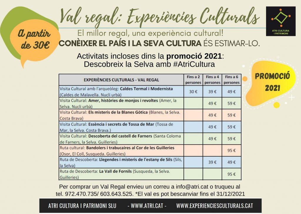 Visita Ruta Cultural La Selva Girona Costa Brava Atri Cultura