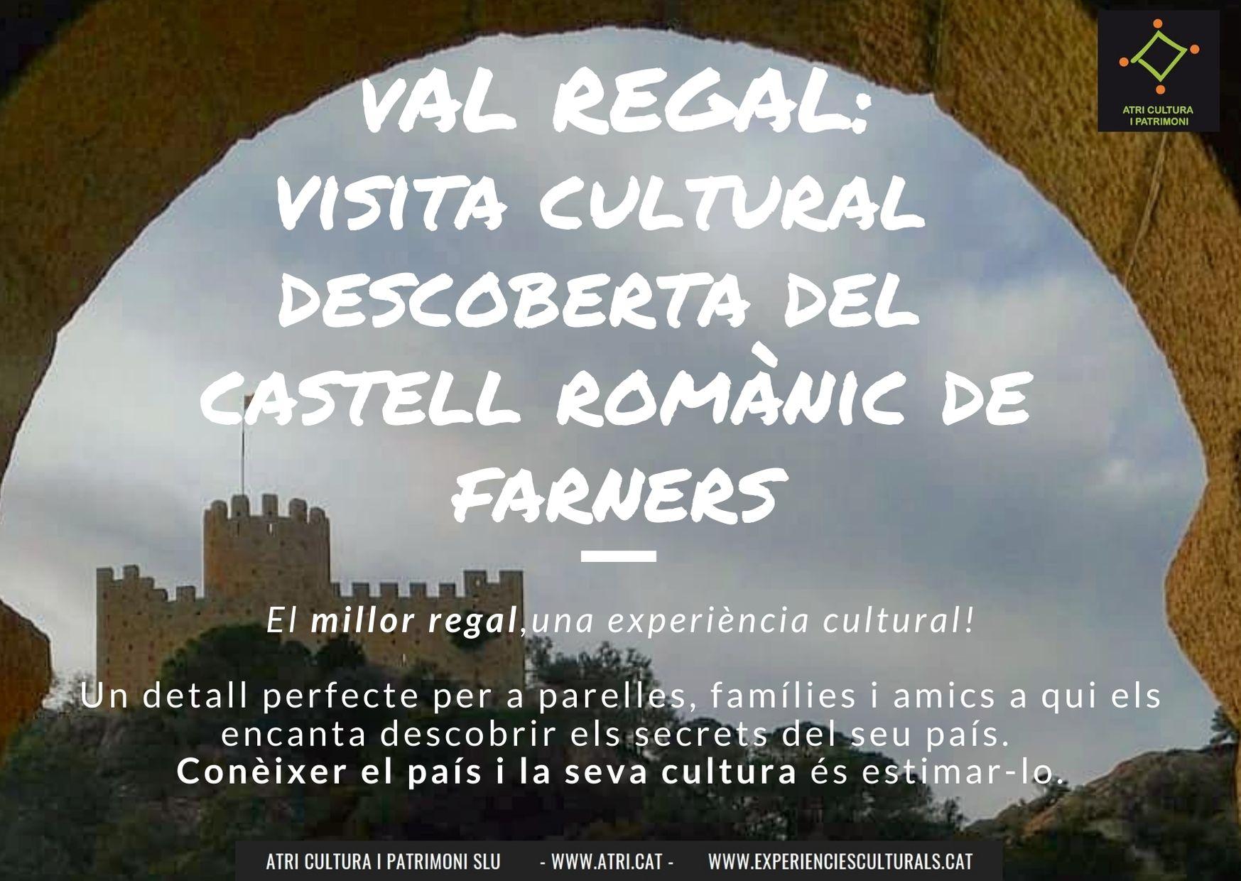 Visita guiada castell romànic Farners Atri Cultura