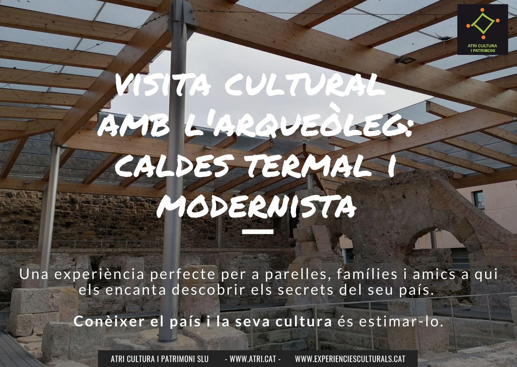 Visita arqueòleg Termes romanes Caldes Malavella